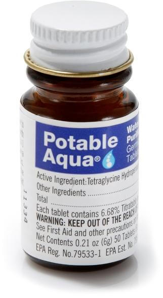 Potable Aqua - Water Purification Tablets